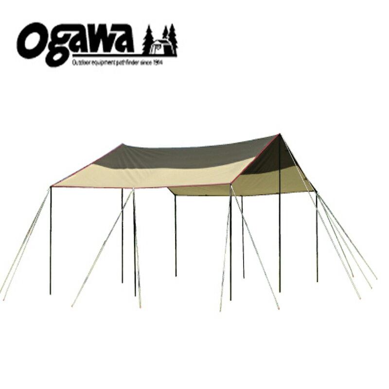 ogawa(小川キャンパル) フィールドタープレクタL-DX【廃番特価】 ブラウン×サンド×レッド 3335