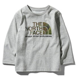 THE NORTH FACE(ザ・ノースフェイス) L/S CAMO LOGO TEE(ログスリーブ カモ ロゴ Tシャツ キッズ) Kid's 120 Z(ミックスグレー) NTJ81824