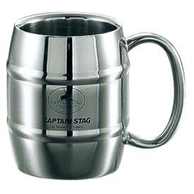 キャプテンスタッグ(CAPTAIN STAG) ビーフリー ダブルステン樽型マグカップ 240mL M-1242