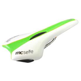 mcselle(マクセラ) MTBサドル ホワイト×グリーン YD-67
