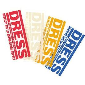 373d82999d11b ドレス(DRESS) ロゴステッカー S ホワイト LD-OP-0001