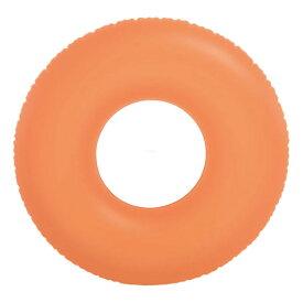 【ほぼP5倍 6/25-6/26 AM1:59迄】 インテックス ネオンフロストチューブ 浮き輪 91cm 91cm オレンジ #59262OR