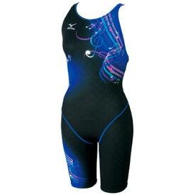 ミズノ(MIZUNO) 85EH167 ハーフスーツ クローズ Women's S 92(ブラック×ブルー) 85EH167