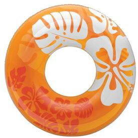 【ほぼP5倍 6/25-6/26 AM1:59迄】 インテックス クリアカラーチューブ 浮き輪 91cm 91cm オレンジ #59251OR