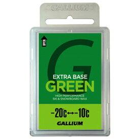 GALLIUM(ガリウム) EXTRA BASE ワックス SW2073 -20度から-10度 低温 新雪 乾質 100g GREEN JA-5634