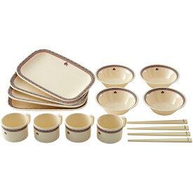 ロゴス(LOGOS) ナバホ パーティー箸付き食器セット4人用 81285000