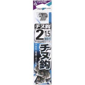 ささめ針(SASAME) チヌ 糸付 鈎2/ハリス1.5 白 AA301