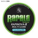 Rapala(ラパラ) ラピノヴァ・エックス マルチゲーム 150m 0.18号/6lb ライムグリーン RLX150M018LG