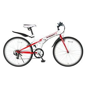 Switzsports(スウィツスポーツ) SIERRE-IIクロスバイクタイプ26インチ折畳自転車【シマノ7段変速】【クレジットカードのみ】 ホワイト×レッド MDL31015