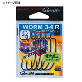 がまかつ(Gamakatsu) バラ エリートツアラーワーム34R 2/0 NSブラック 67711