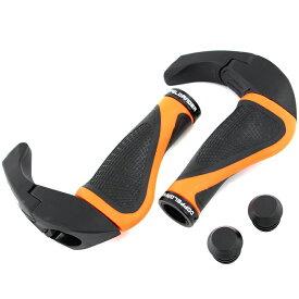ドッペルギャンガー(DOPPELGANGER) エルゴノミックバーエンドグリップ ブラック×オレンジ DGR163-BK