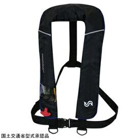Takashina(高階救命器具) 国土交通省承認 首掛け式ライフジャケット 桜マーク タイプA ブラック×ブルー BSJ-2520RS