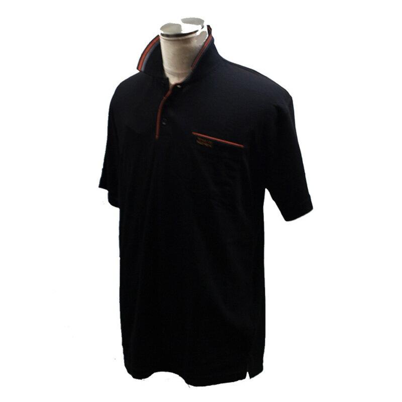 VINCENZO VALENTINO(ヴィンセント ヴァレンティノ) 半袖ポロシャツ M ブラック KH-5163