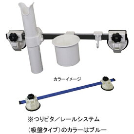 bmojapan(ビーエムオージャパン) つりピタ レールシステム(吸盤タイプ)ベーシックセット ブルー BM-QR600-B-SET-01