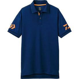 ダイワ(Daiwa) DE-7906 半袖ポロシャツ WL ネイビー×チェリートマト 04518834