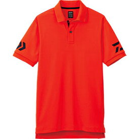 ダイワ(Daiwa) DE-7906 半袖ポロシャツ 2XL チェリートマト×ネイビー 04518846