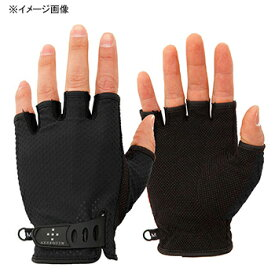 アクシーズクイン(AXESQUIN) UV Mesh Finger Cut Glove L ブラック AG6707