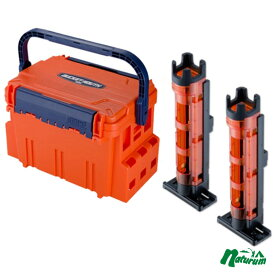 メイホウ(MEIHO) 明邦 ★バケットマウスBM-5000+ロッドスタンド BM-250 Light 2本組セット★ オレンジ/クリアオレンジ×ブラック