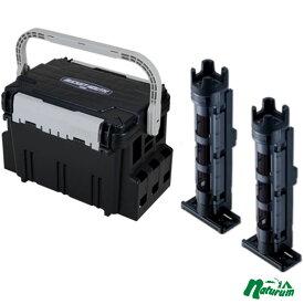 メイホウ(MEIHO) 明邦 ★バケットマウスBM-5000+ロッドスタンド BM-250 Light 2本組セット★ ブラック/クリアブラック×ブラック