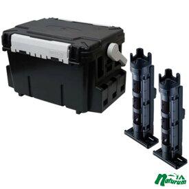 メイホウ(MEIHO) 明邦 ★バケットマウスBM-7000+ロッドスタンド BM-250 Light 2本組セット★ 28L ブラック/クリアブラック×ブラック