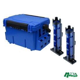 メイホウ(MEIHO) ★バケットマウスBM-7000+ロッドスタンド BM-250 Light 2本組セット★ ブルー/クリアブルー×ブラック