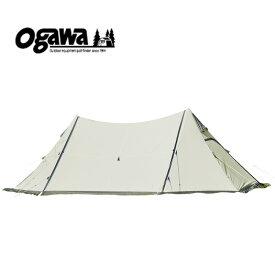 ogawa(小川キャンパル) ツインピルツフォークT/C オフホワイト×ブラウン 3345