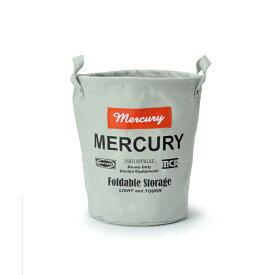 【ほぼP5倍 6/25-6/26 AM1:59迄】 MERCURY(マーキュリー) キャンバスバケツ S グレイ MECABUSG