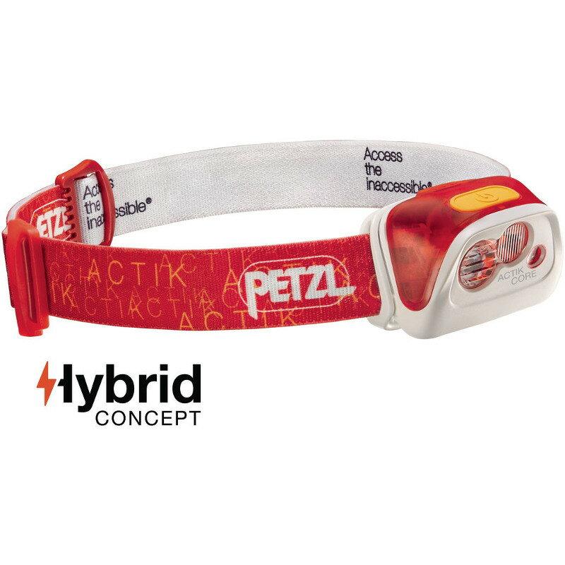 PETZL(ペツル) アクティックコア 最大350ルーメン 充電式 レッド E99ABB