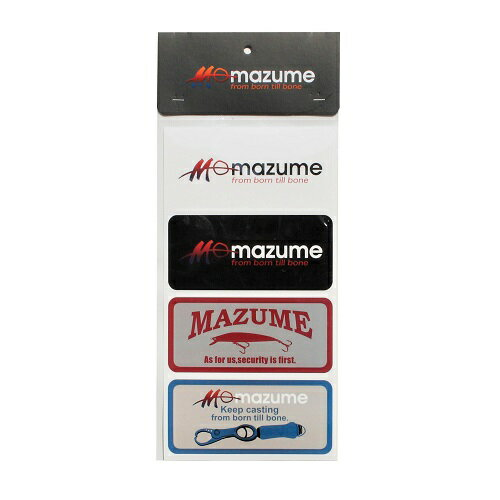 MAZUME(マズメ) ロゴステッカー 4枚セット MZAS-330-01