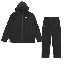 ロゴス(LOGOS) ストレッチ レインスーツ Men's L ブラック 36709712
