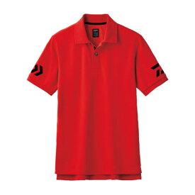ダイワ(Daiwa) DE-7906 半袖ポロシャツ XL レッド×ブラック 08330719
