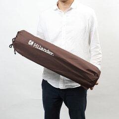 Hilander(ハイランダー)スエードインフレーターマット(枕付きタイプ)5.0cm【お得な2点セット】シングル(2本)ブラウンUK-2