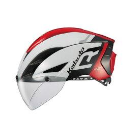 オージーケー カブト(OGK KABUTO) ヘルメット AERO-R1 (エアロ-R1) XS/S G-1ホワイトレッド AERO-R1