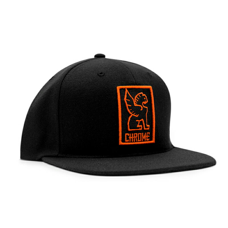 CHROME(クローム) SNAPBACK CAP フリー BLACK×ORANGE AP138
