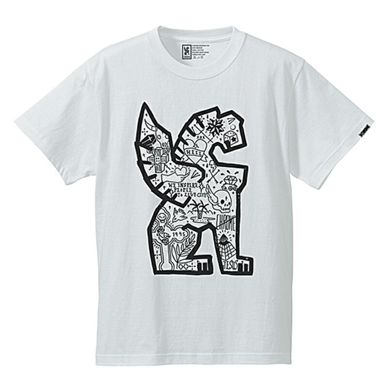 CHROME(クローム) MAO SIMMONS TEE Men's L WHITE JP046WT