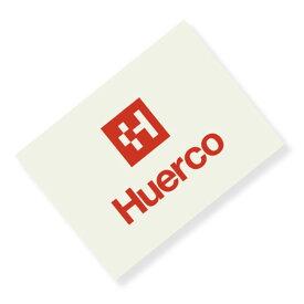 フエルコ(Huerco) ロゴカッティングステッカー 角型小 赤 410048