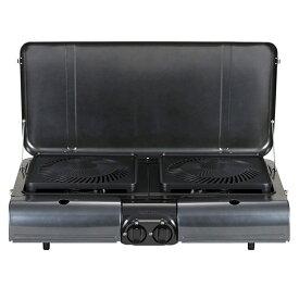イワタニ産業(Iwatani) テーブルトップ型BBQグリル フラットツイングリル チャコールグレーメタリック CB-TBG-1