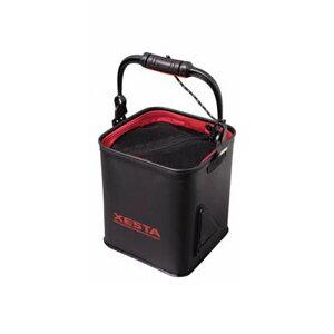 ゼスタ(XeSTA) 水汲みバケツ ブラック×レッド
