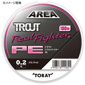 東レモノフィラメント(TORAY) トラウト リアルファイター PE 100m 0.3号/6lb ナチュラルピンク F72P