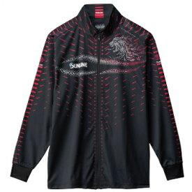 サンライン(SUNLINE) フルジップアップシャツ LL ブラック SUW-5568HT