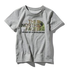 THE NORTH FACE(ザ・ノースフェイス) S/S CAMO LOGO TEE(ショートスリーブ カモ ロゴ ティー) Kid's 110 Z(ミックスグレー) NTJ31992