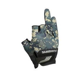 シマノ(SHIMANO) GL-021S 3D アドバンスグローブ3 L ベージュウィードカモ 63396