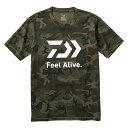 【ほぼP5倍 6/25-6/26 AM1:59迄】 ダイワ(Daiwa) DE-83009 ショートスリーブ FEEL Alive Tシャツ M グリーンカモ 0833…
