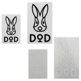 DOD(ディーオーディー) DODカッティングステッカーセット BW(ブラック×ホワイト) ST1-658-BW