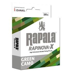 Rapala(ラパラ) ラピノヴァ エックス マルチゲーム 100m 8.0号110lb グリーンカモ RLX100M80GC