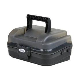 OGK(大阪漁具) 小型タックルボックス(一段式) スモーク×ブラック OG647SK