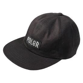 POLeR(ポーラー) FURRYFONT 6PANEL CAP BLACK 55100003-BLK