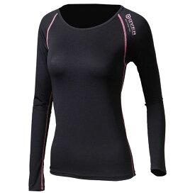 おたふく手袋(OTAFUKU) Oラスト ロングシャツ L 黒×ピンク JW-539