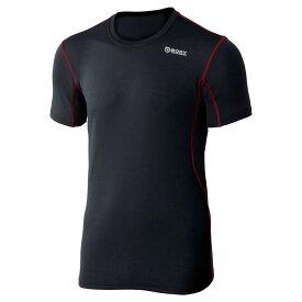 おたふく手袋(OTAFUKU) Dメッシュ ショートシャツ L 黒×赤 JW-601