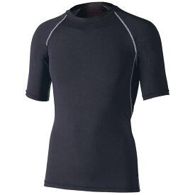 おたふく手袋(OTAFUKU) ストレッチ 半袖クルーネックシャツ L 黒 JW-628